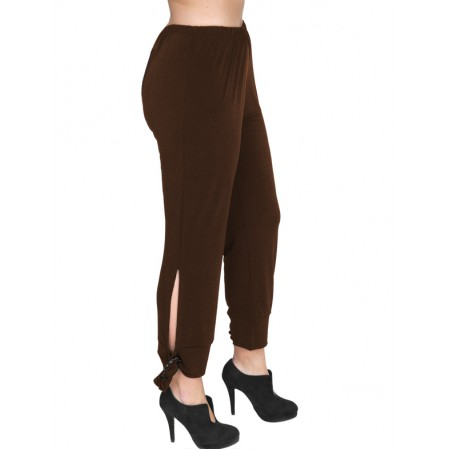B19-151 Fitted capri pants - Brown