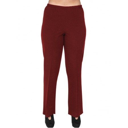 B19-152 Fitted pants - Bordeaux
