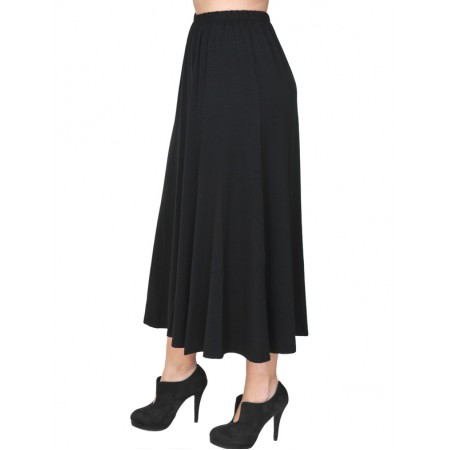 B19-160 Fitted closh skirt - Black