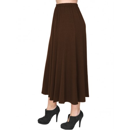 B19-160 Fitted closh skirt - Brown