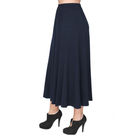 B19-160 Fitted closh skirt - Navy Blue