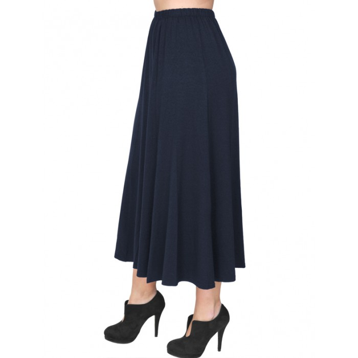 B19-160 Fitted closh skirt - Navy Blue