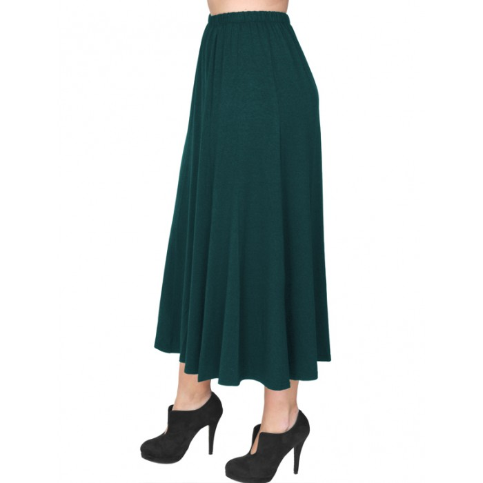 B19-160 Fitted closh skirt - Petrol