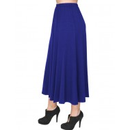 B19-160 Fitted closh skirt - Royal Blue
