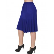 B19-168 Evaze fitted skirt with ruffles - Royal Blue