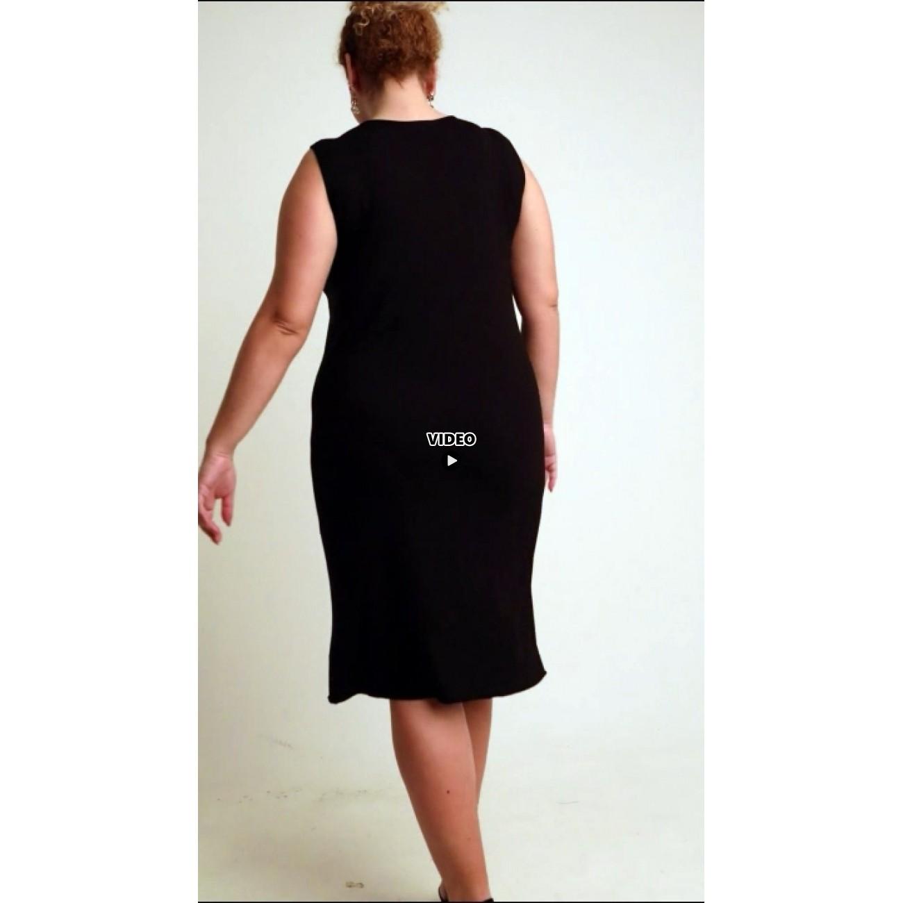 A20-201V Classic dress top - Black