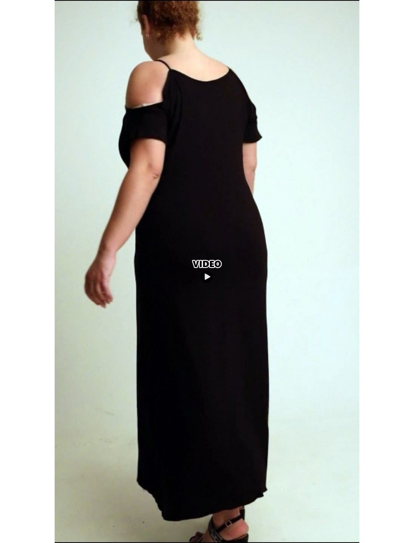 A20-223F Long dress - Black