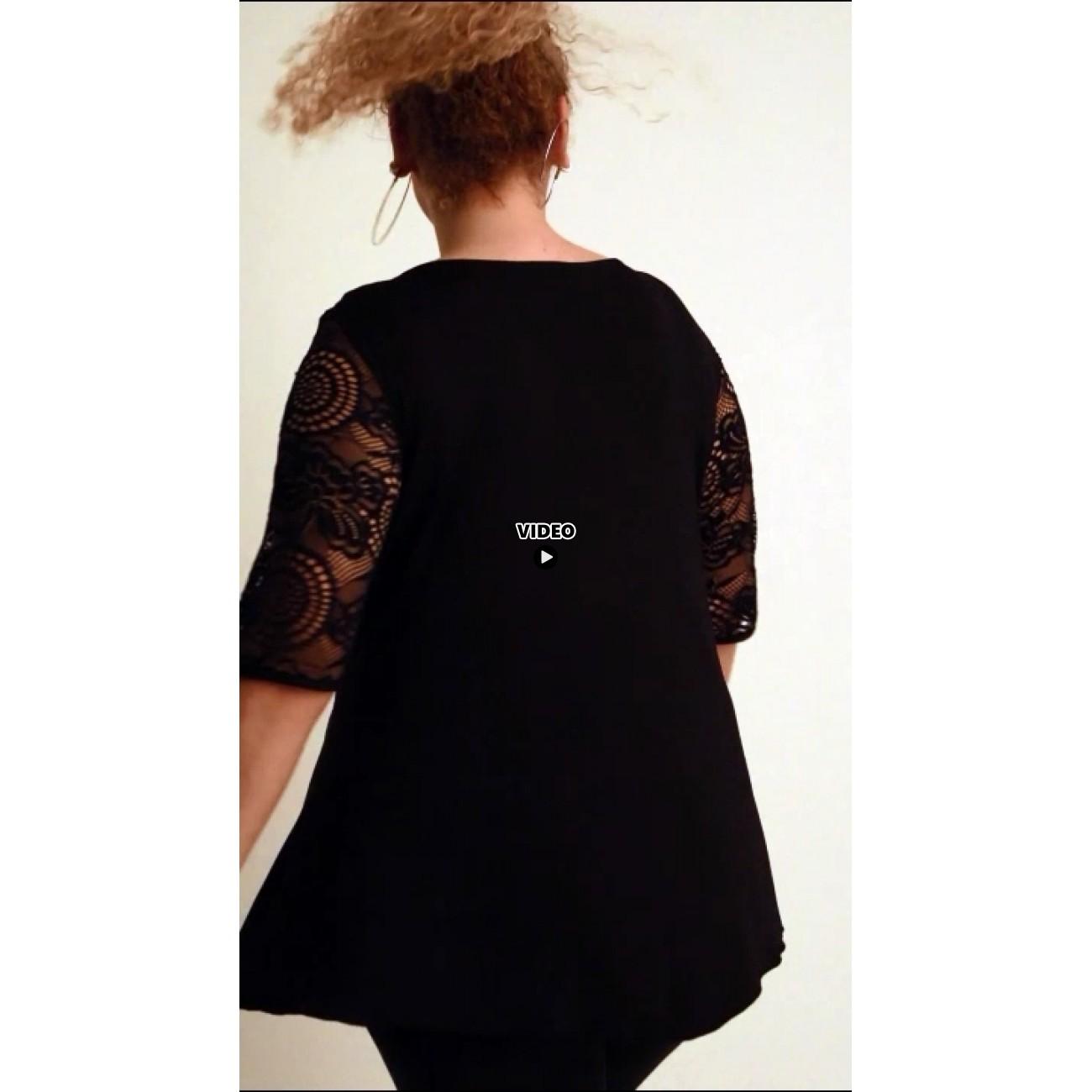 A20-247D Alfa blouse - Turquoise