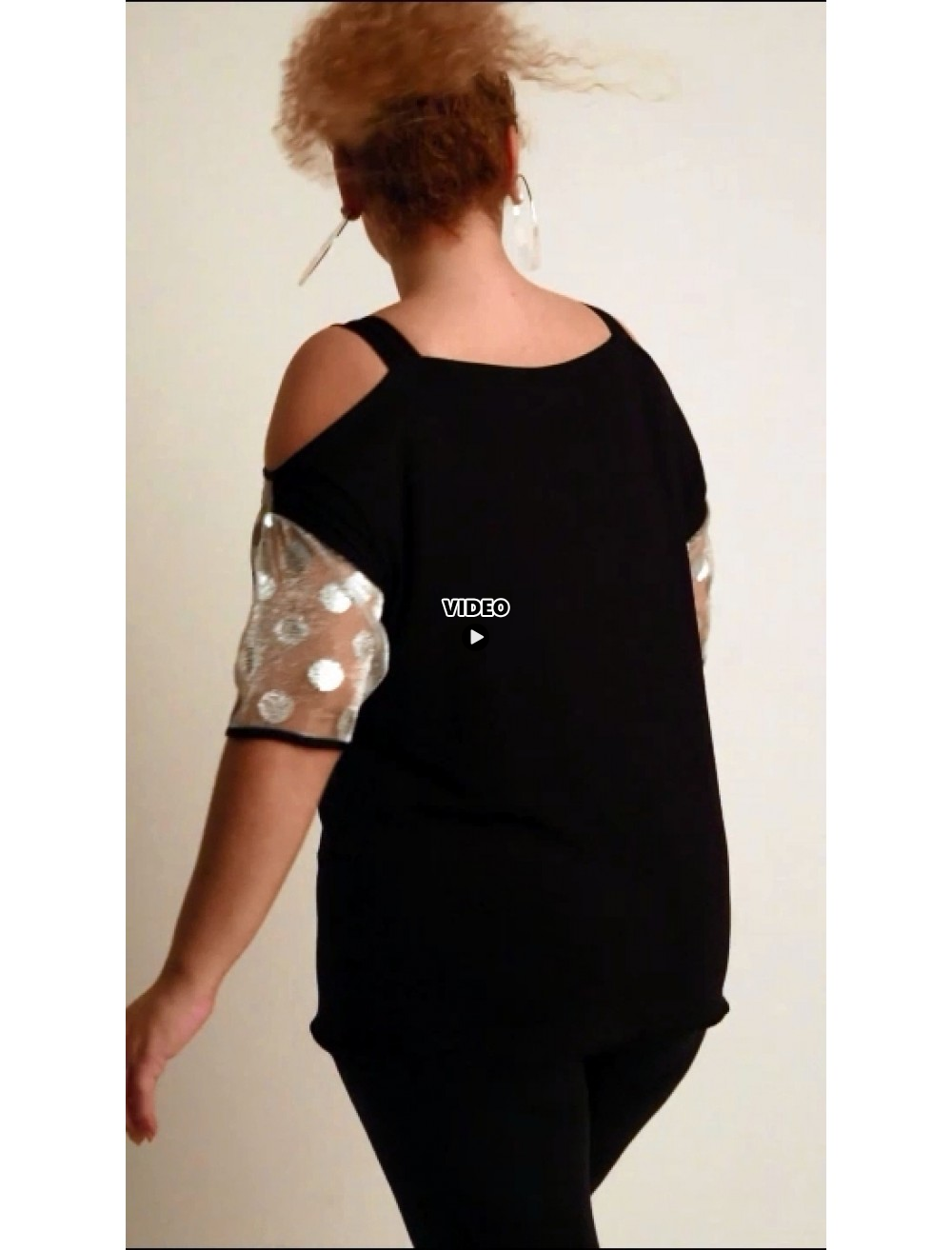 A20-4148 Raglan blouse - Black