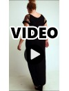 A20-4279F Long dress - Black