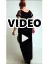 A20-4279F Long dress - Black