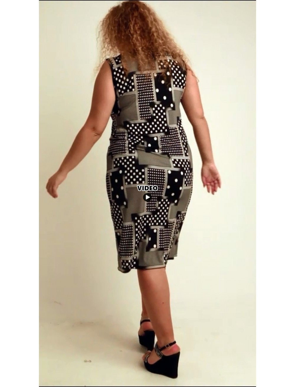 A20-4601V Dress with pattern