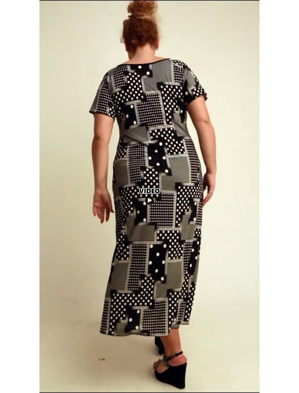 A20-4623FK Dress with pattern