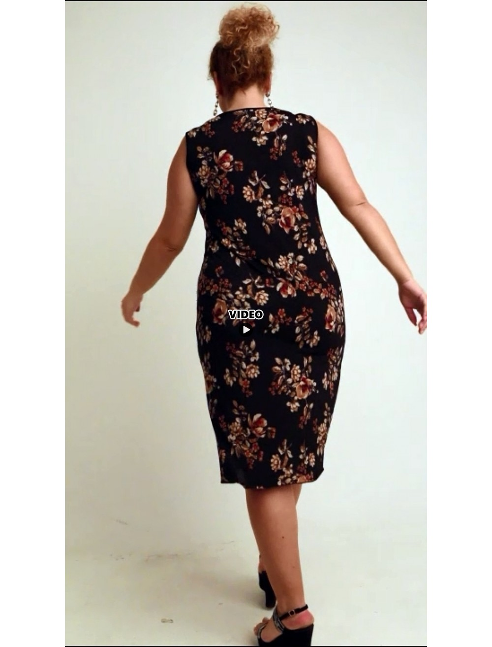 A20-4701V Dress with pattern