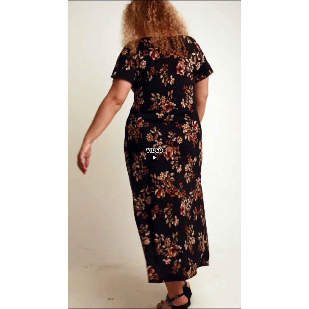 A20-4723FK Dress with pattern