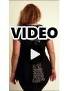 A20-5289 Evaze blouse with polka dot on the back - Black