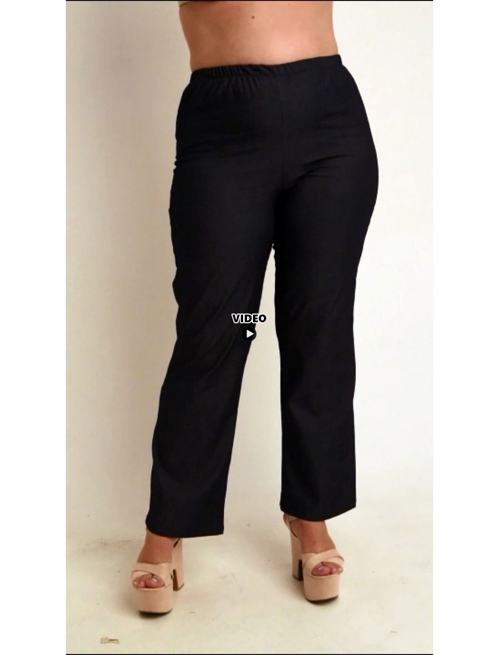 A20-652 Fitted trousers - Dark blue