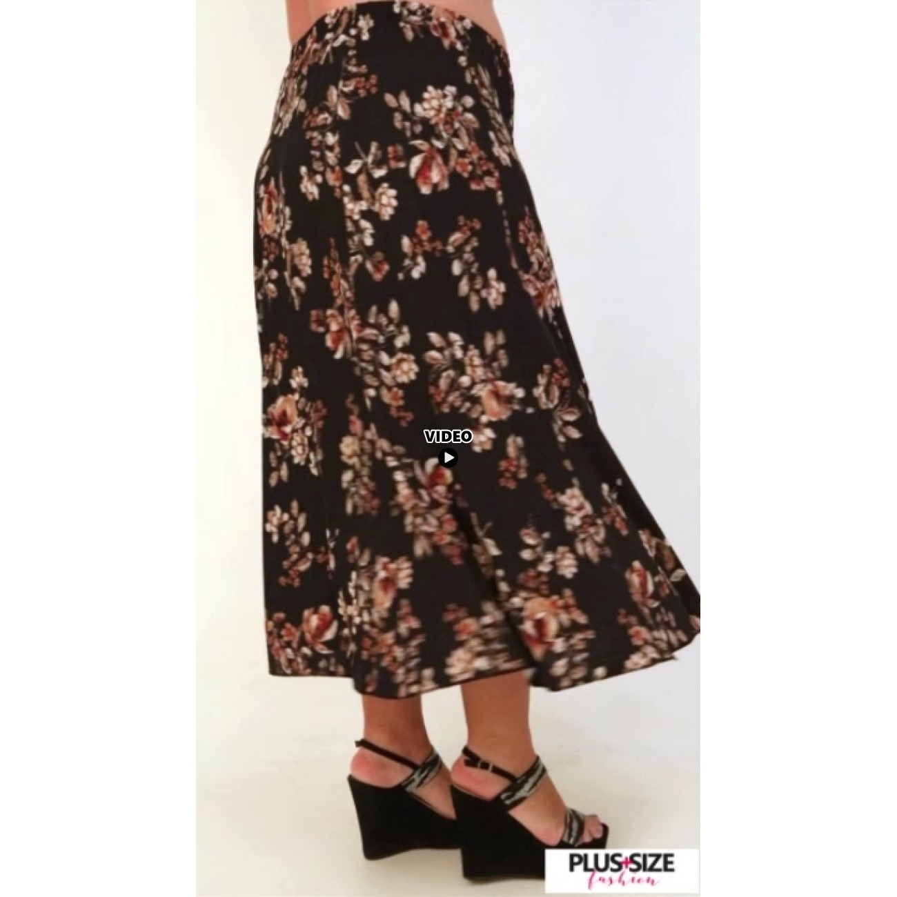 A21-4760 Jersey Closh Skirt with elastic band