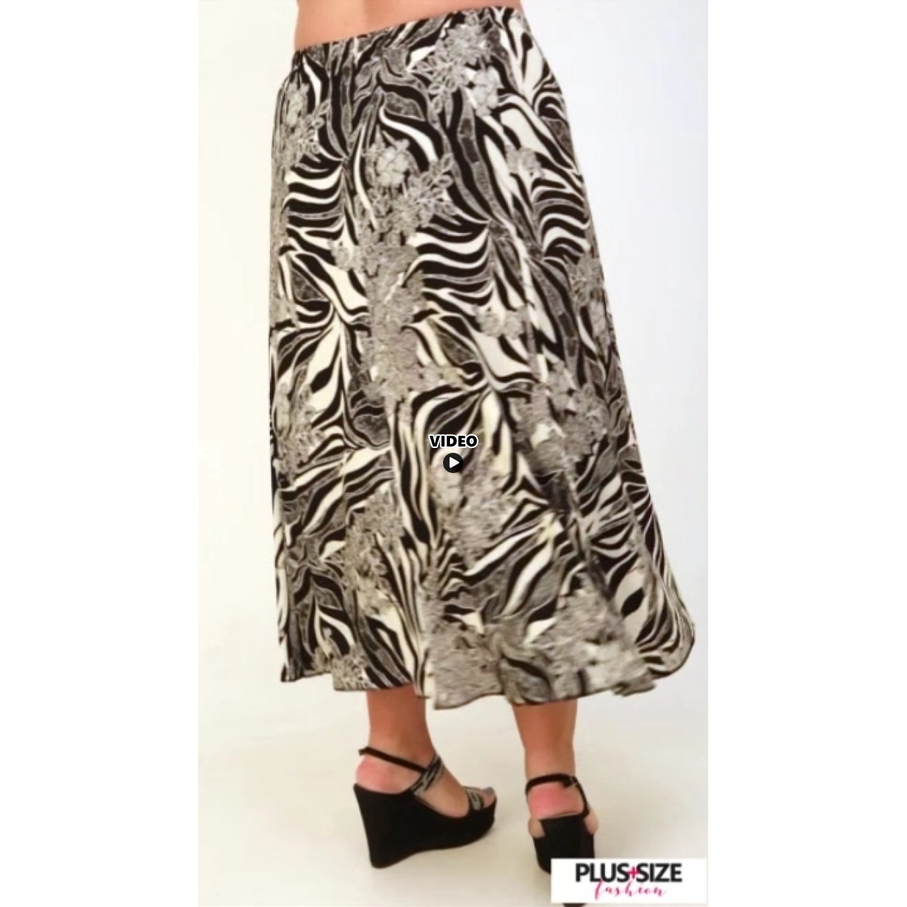 A21-6060 Jersey Closh Skirt with elastic band