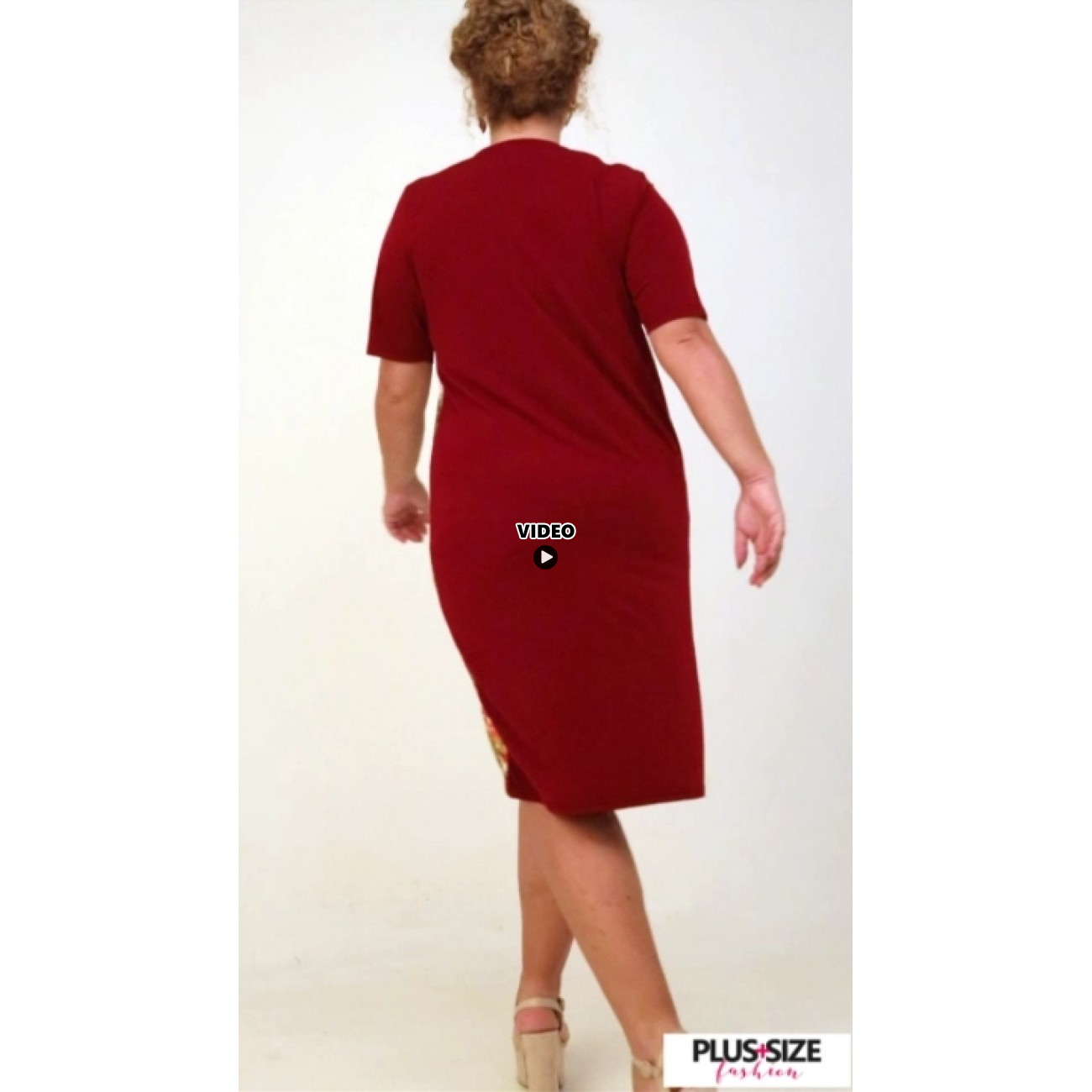 A21-7600V Jersey Dress in classic line