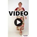 A21-7623FK Long Jersey Dress with pattern