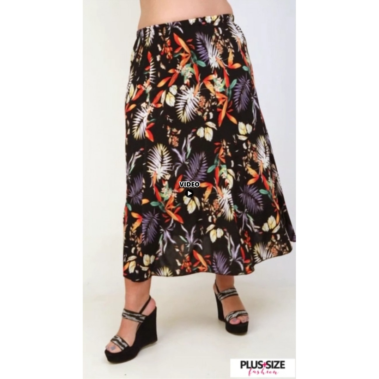 A21-7760 Jersey Closh Skirt with elastic band