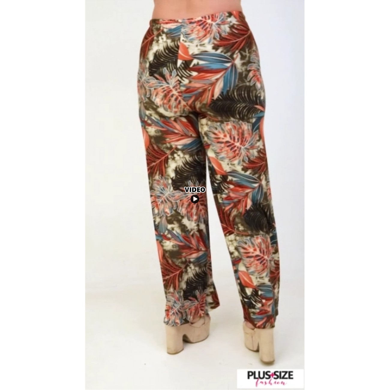A21-7867 Jersey Culotte with elastic band - Petrol