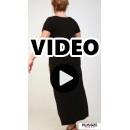 A21-8123FK Long Jersey Dress with pattern