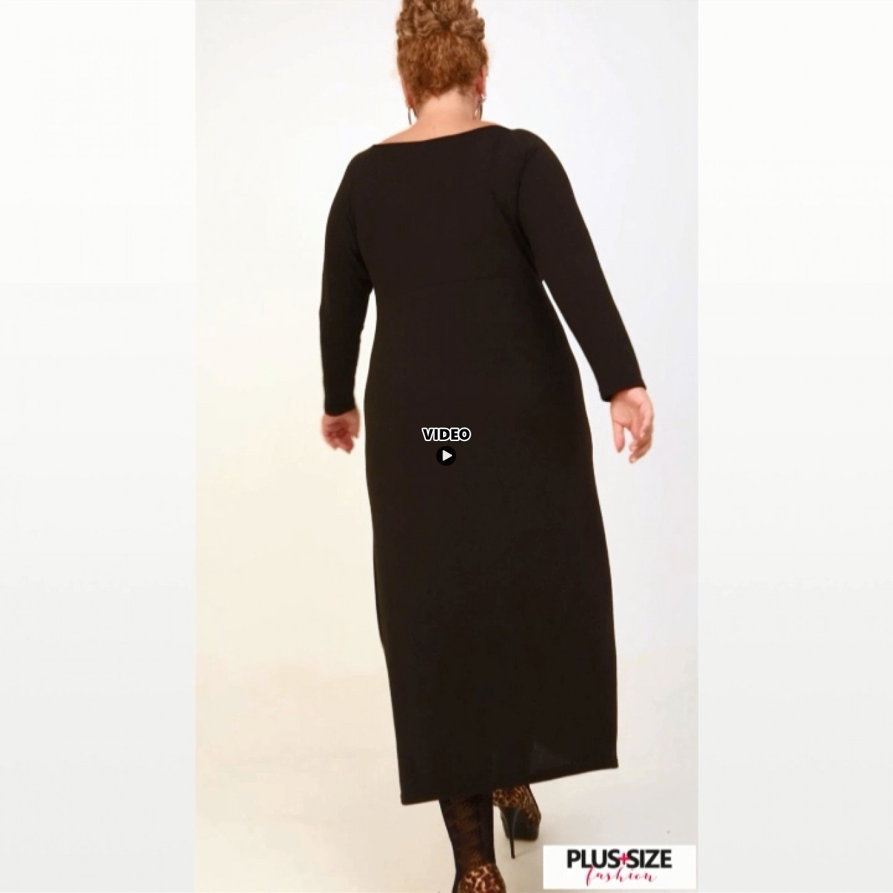 B20-123FK Long Jersey Dress - Black