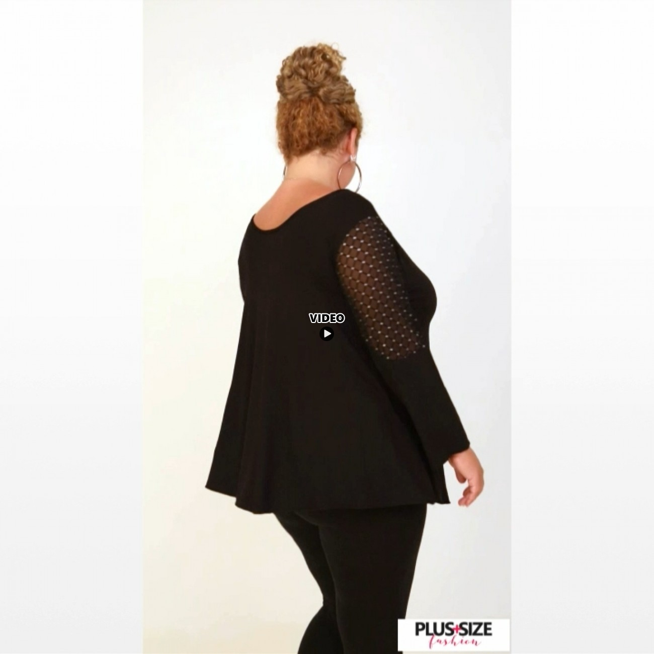 B20-2713 Alpha Blouse with tulle