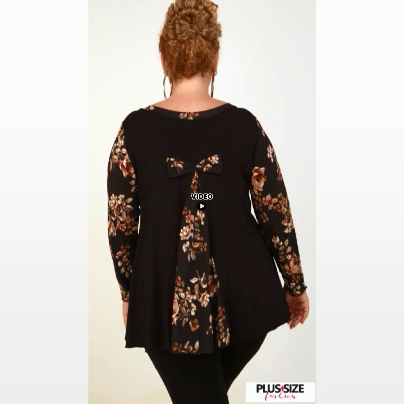 B20-4789 Evaze Blouse with bow on the back