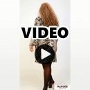 B20-6025F Jersey Dress with volan hem