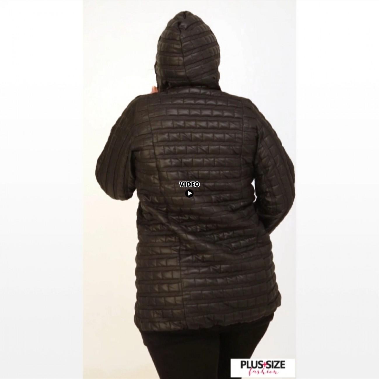B20-6629 Jacket with hood - Black