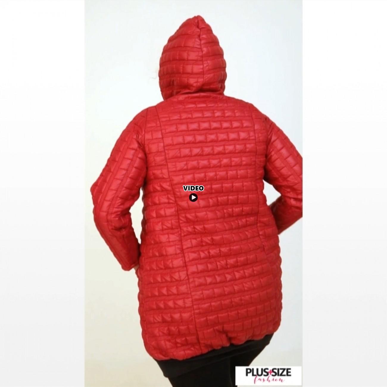 B20-6629 Jacket with hood - Bordeaux