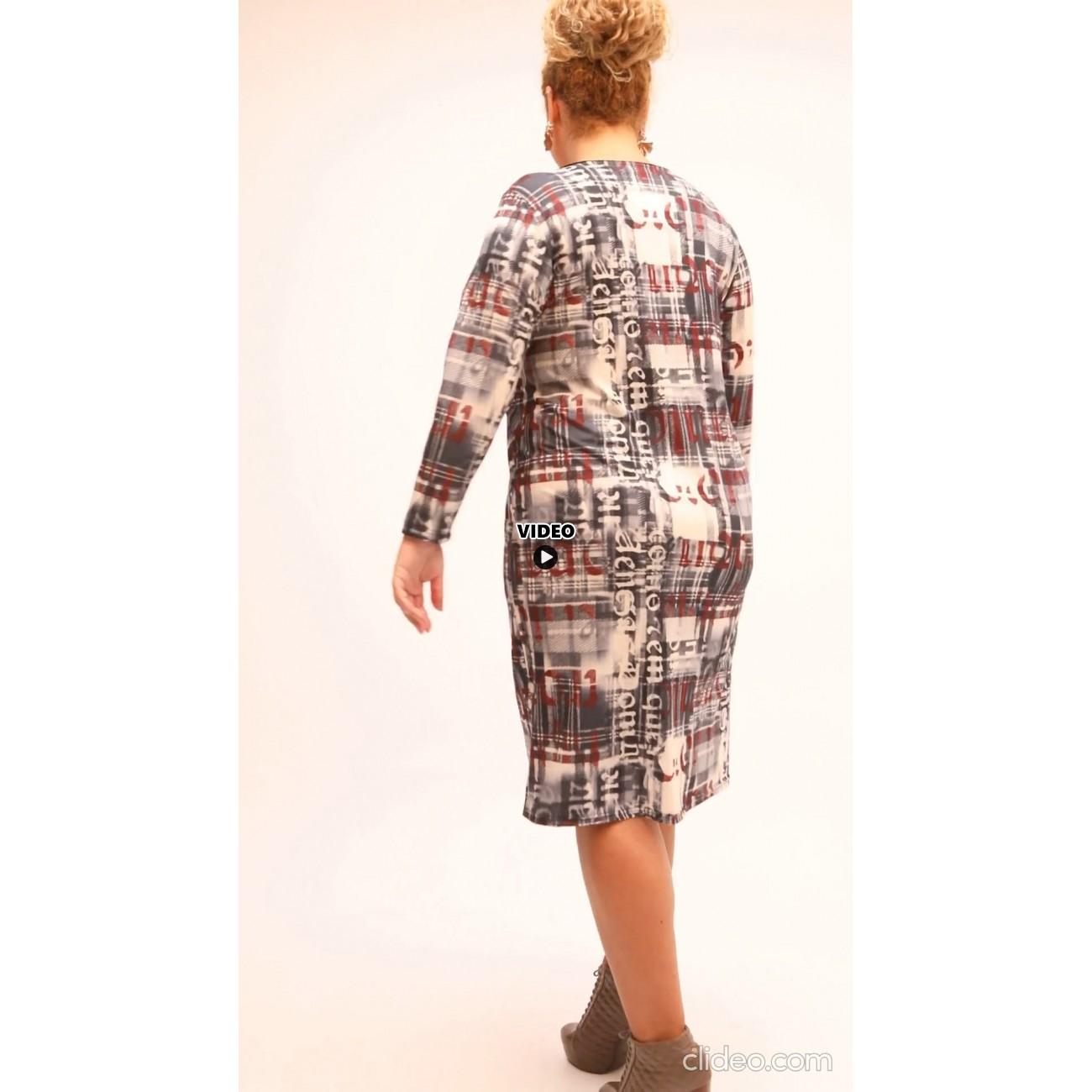 B21-1000V Classic dress with pattern