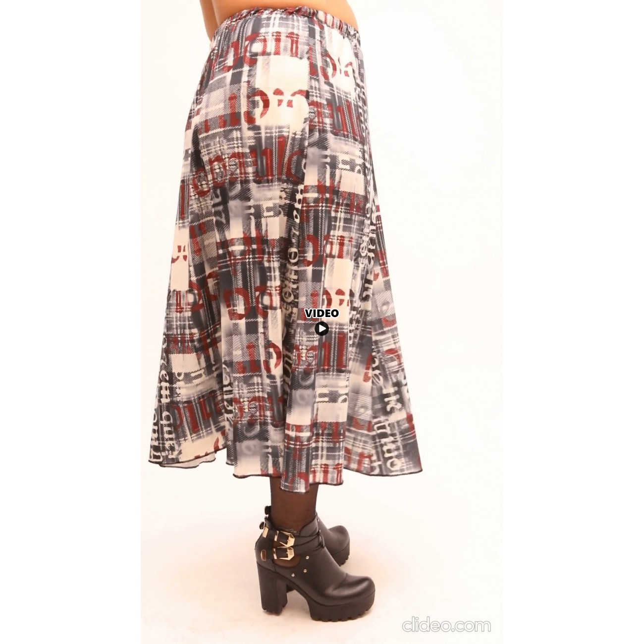 B21-1060 Closh Skirt with elastic band