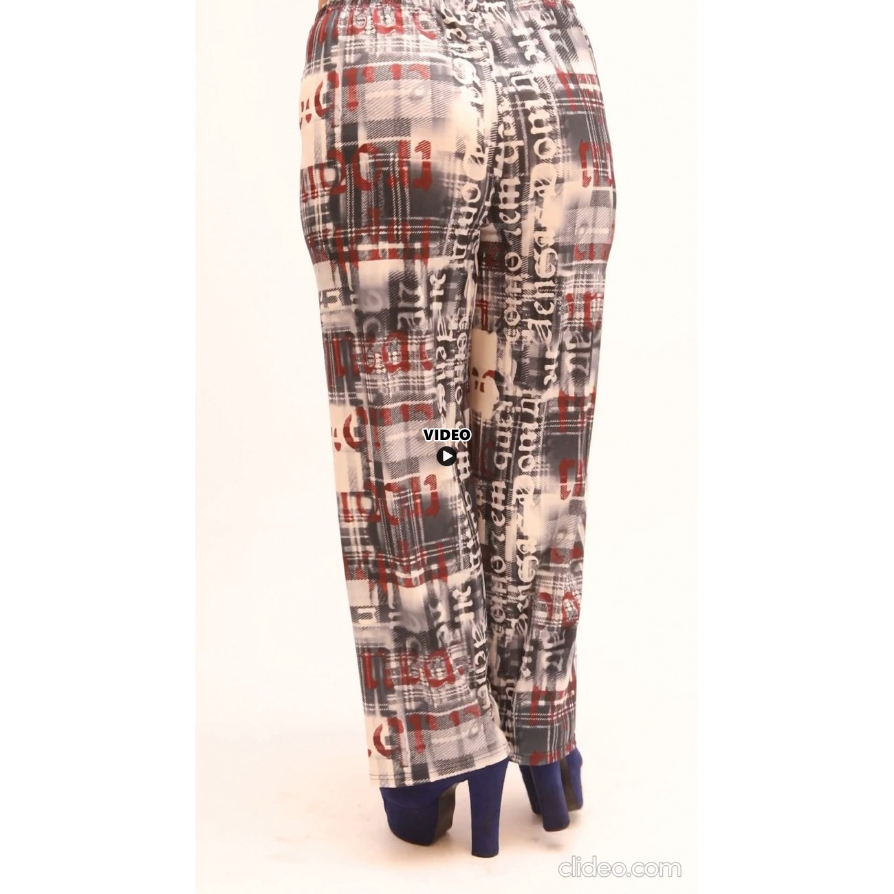 B21-1067 Culotte with elastic band and pattern