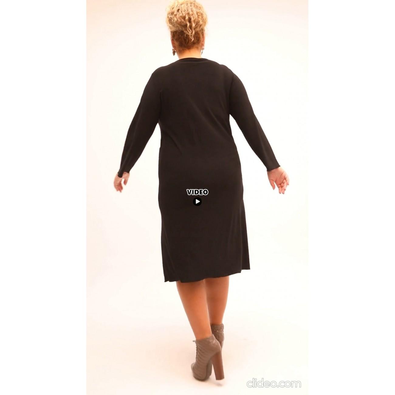 B21-1692 Classic dress - Black