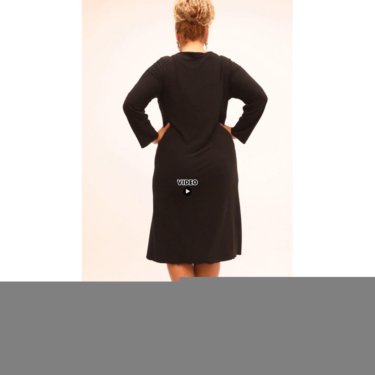B21-192 Classic dress - Bordeaux