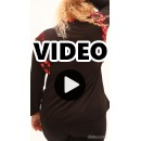 B21-4508Z Classic blouse with feathers - Bordeaux