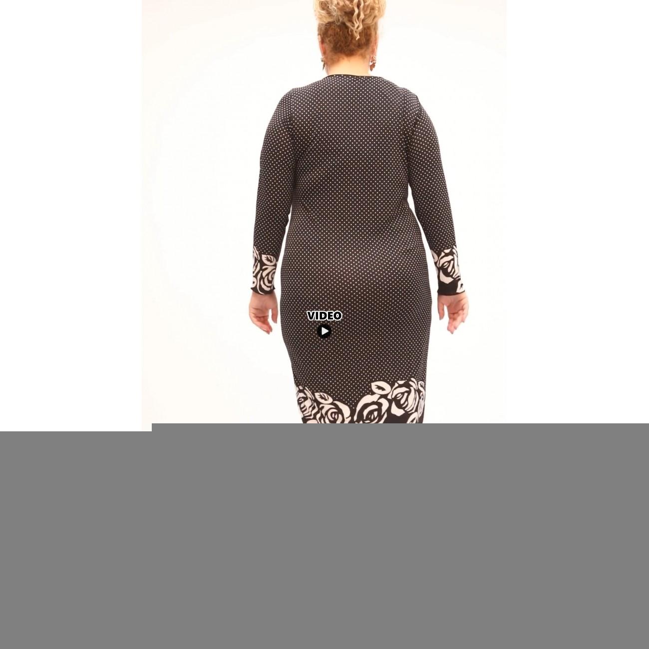 B21-4700V Classic dress with pattern