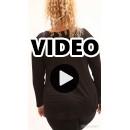 B21-5008LK Evaze blouse with heart - Black
