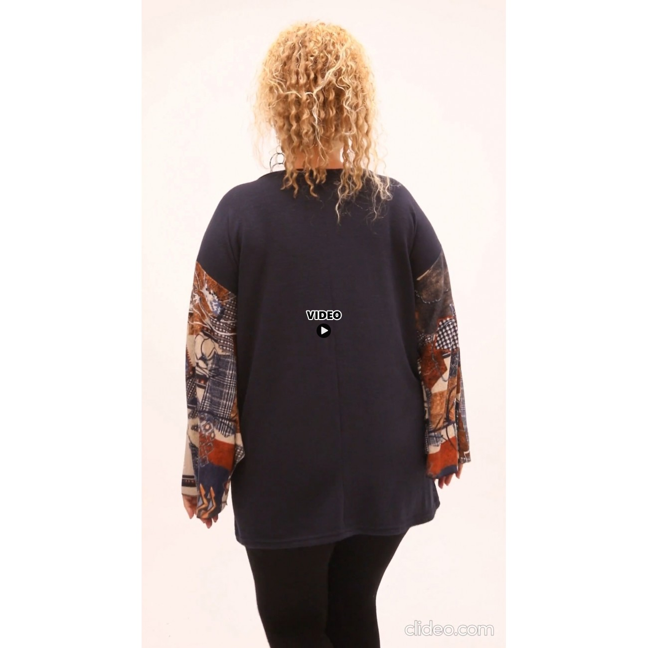 B21-5788 Knitted evaze blouse