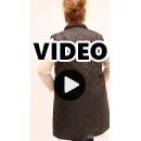 B21-6629AM Sleeveless long jacket with zipper and collar - Black