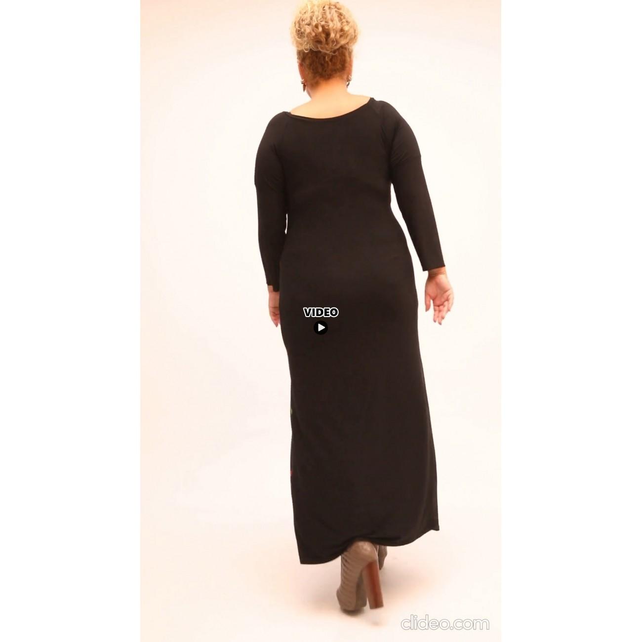 B21-7323FK Long dress with pattern