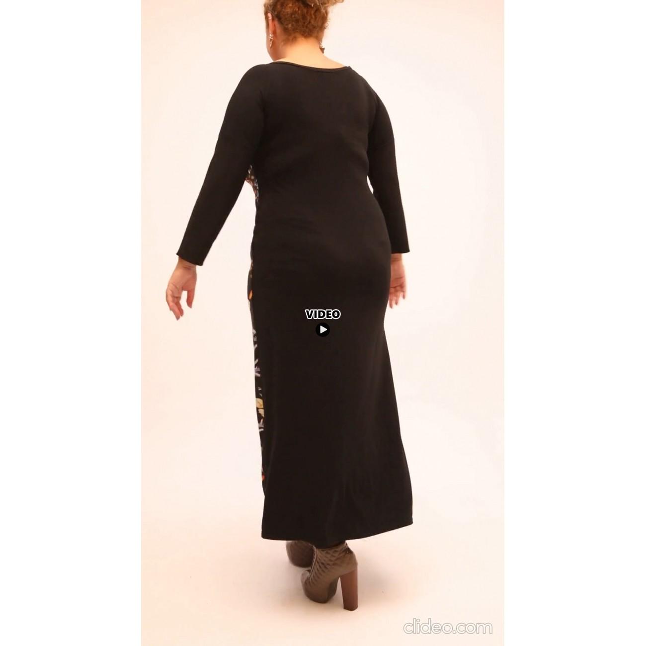 B21-7723FK Long dress with pattern