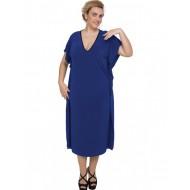A20-133 Bat Sleeve Dress - Royal Blue
