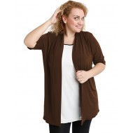 A20-140 Classic cardigan - Brown