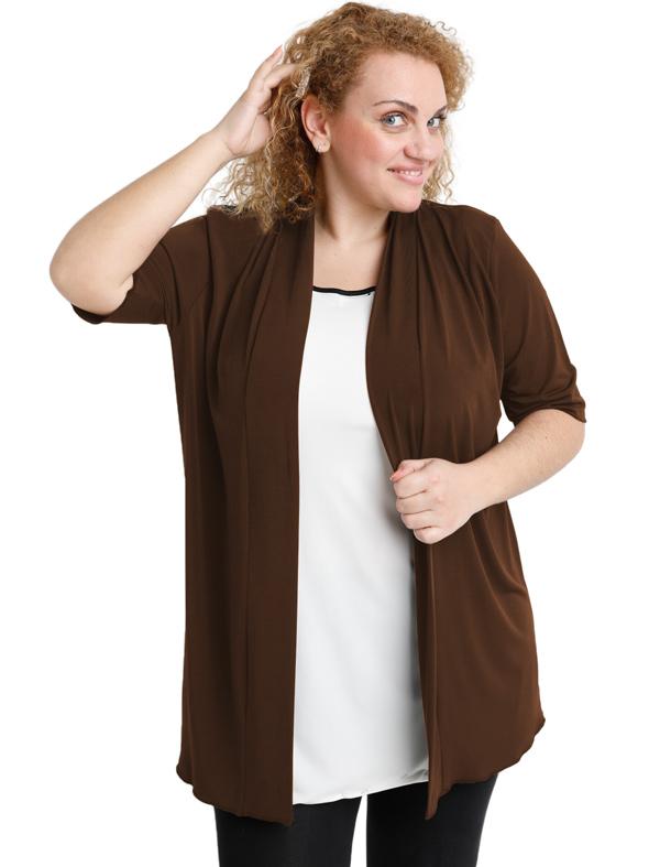A20-140 Classic cardigan - Brown