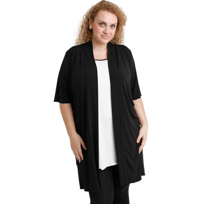 A20-142 Classic long cardigan - Black